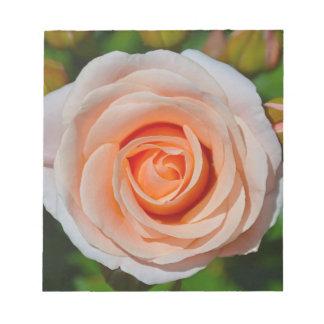 Single pink rose notepad
