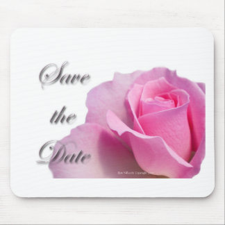 Single Pink Rose Save the Date Mousepad