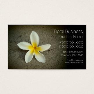 Single plumeria flower custom business cards