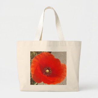 Single Poppy Large Tote Bag