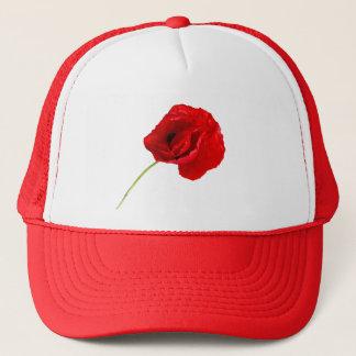 Single poppy trucker hat