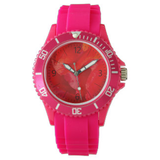 Single poppy watch