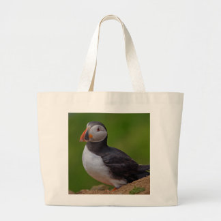 Single Puffin Large Tote Bag