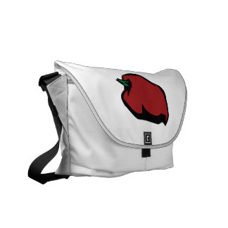 Single Red Habanero Graphic Courier Bag