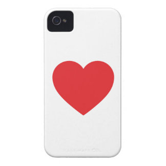 Single Red Heart iPhone 4 Case-Mate Barely There
