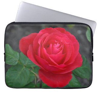 Single red rose computer sleeves