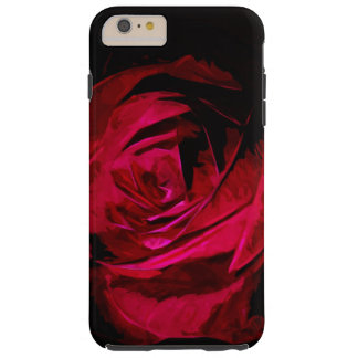 Single Red Rose In Darkness Abstract Impressionism Tough iPhone 6 Plus Case