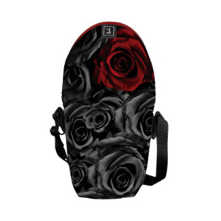 Single Red Rose Messenger Bags