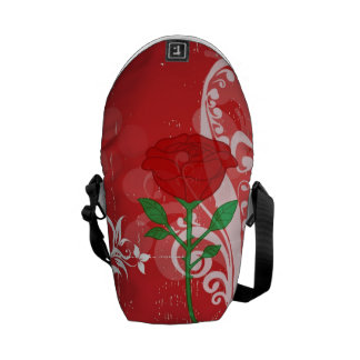 Single Red Rose Pictures Design Courier Bag