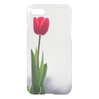 Single Red Tulip Simplicity iPhone 7 Case