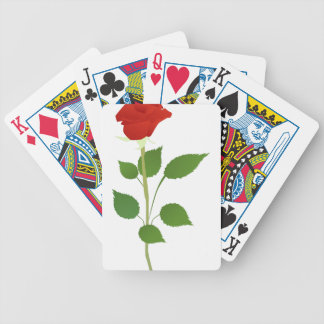 Single Rose Bicycle Playing Cards
