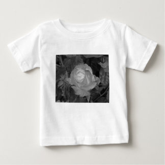 Single rose flower with water droplets in spring baby T-Shirt