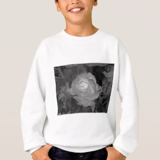 Single rose flower with water droplets in spring sweatshirt