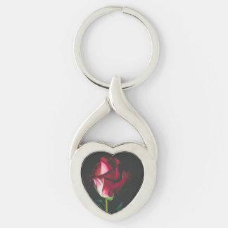 Single Rose Romantic Keychain