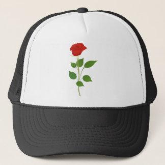 Single Rose Trucker Hat