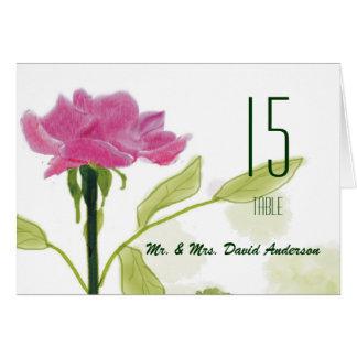 Single Rose Wedding  Place Card