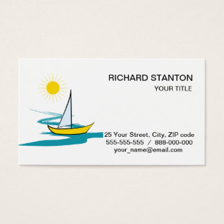Single sailboat business card