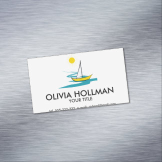 Single sailboat 	Magnetic business card
