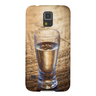 Single shot of Tequila on wood table Case For Galaxy S5