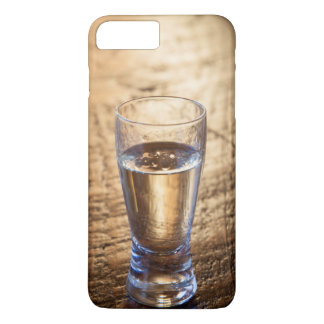 Single shot of Tequila on wood table Case-Mate iPhone Case
