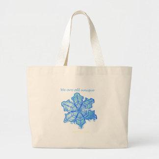 Single Snowflake Jumbo Tote Bag