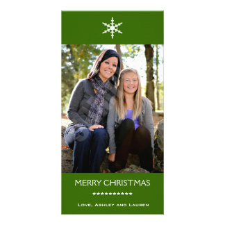 Single Snowflake with Customizable Colors Card