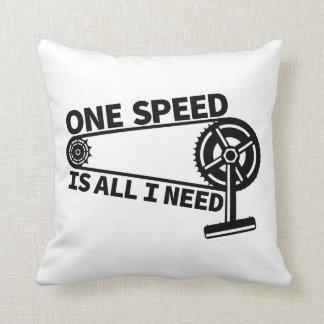 Single speed / fixed gear bicycle crankset throw pillow