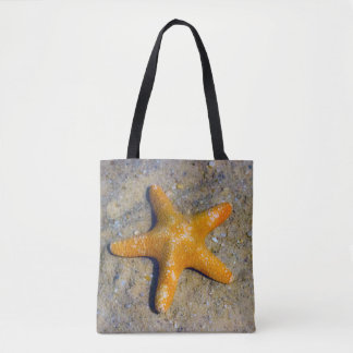 Single Starfish in the Sand Tote Bag
