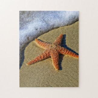 Single Starfish on Beach Jigsaw Puzzle