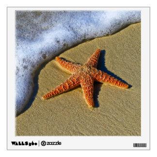 Single Starfish on Beach Wall Decal