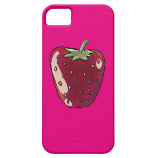 single strawberry cartoon style fruit illustration iPhone 5 case