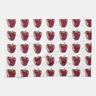 single strawberry cartoon style fruit illustration kitchen towels