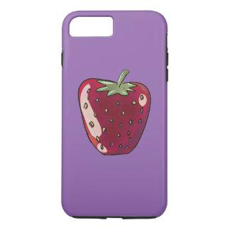 single strawberry cartoon style illustration iPhone 8 plus/7 plus case