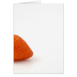 Single Strawberry On White Background Card