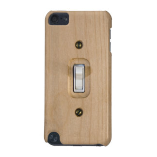 Single Switch Wooden Plate Close Up Photograph iPod Touch 5G Case