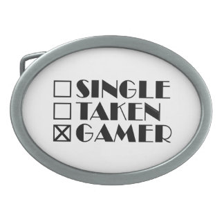 Single Taken or Gamer Belt Buckles