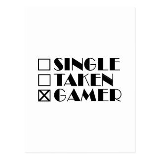 Single Taken or Gamer Postcard
