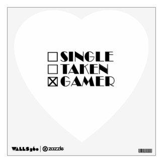 Single Taken or Gamer Wall Decal