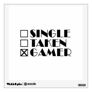 Single Taken or Gamer Wall Sticker