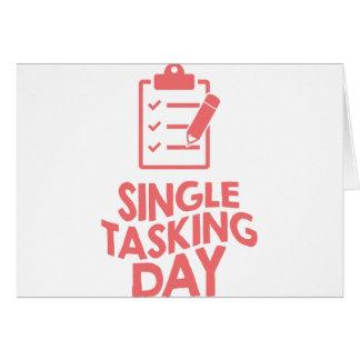 Single Tasking Day - Appreciation Day Card
