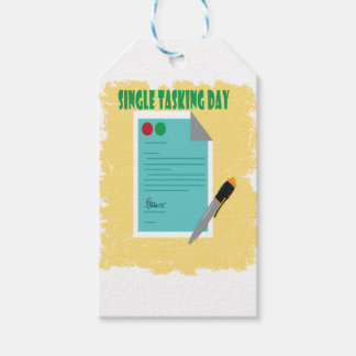 Single Tasking Day - Appreciation Day Gift Tags