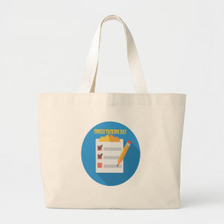 Single Tasking Day - Appreciation Day Large Tote Bag