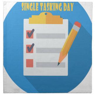 Single Tasking Day - Appreciation Day Napkin