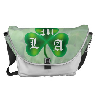 Single Three Leaf Clover on Clover Monogram Commuter Bags