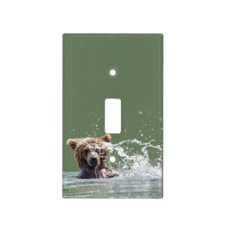 single toggle switch of  grizzly bear light switch cover