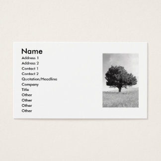 Single Tree Business Card