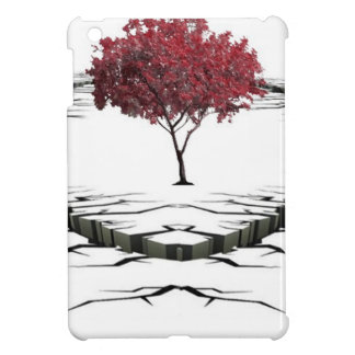 Single tree isolated from nature sad case for the iPad mini