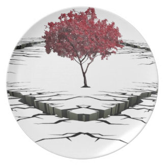Single tree isolated from nature sad party plates