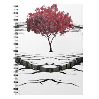 Single tree isolated from nature sad spiral notebook