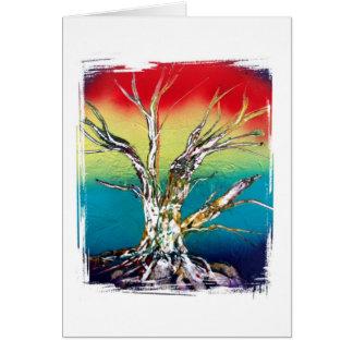 Single Tree Red Yellow Green Rasta Style Card